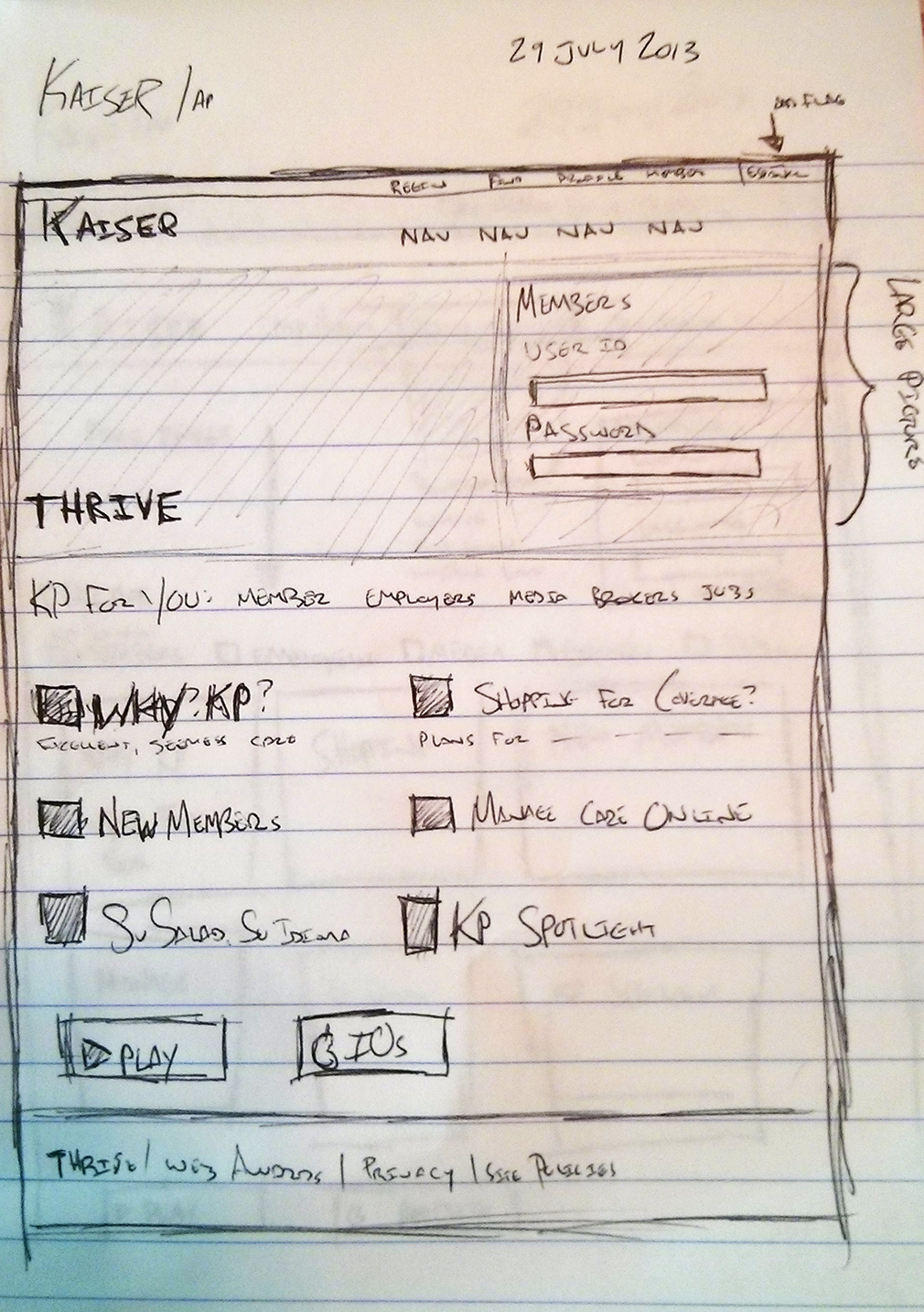 Kaiser Sample Sketch