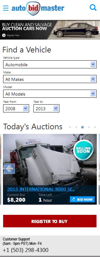 AutoBidMaster Mobile Concept