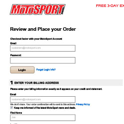 MotoSport Optimized Checkout Concept