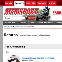 MotoSport Return Form Concept