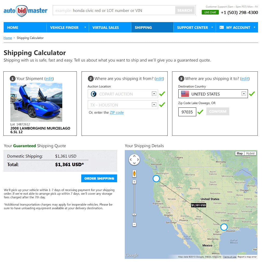 Shipping Calculator
